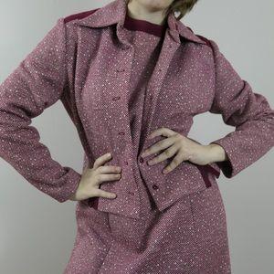 Vintage 70s knit dress and jacket